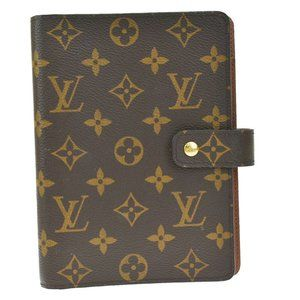 Auth LOUIS VUITTON Agenda MM Day Planner Cover